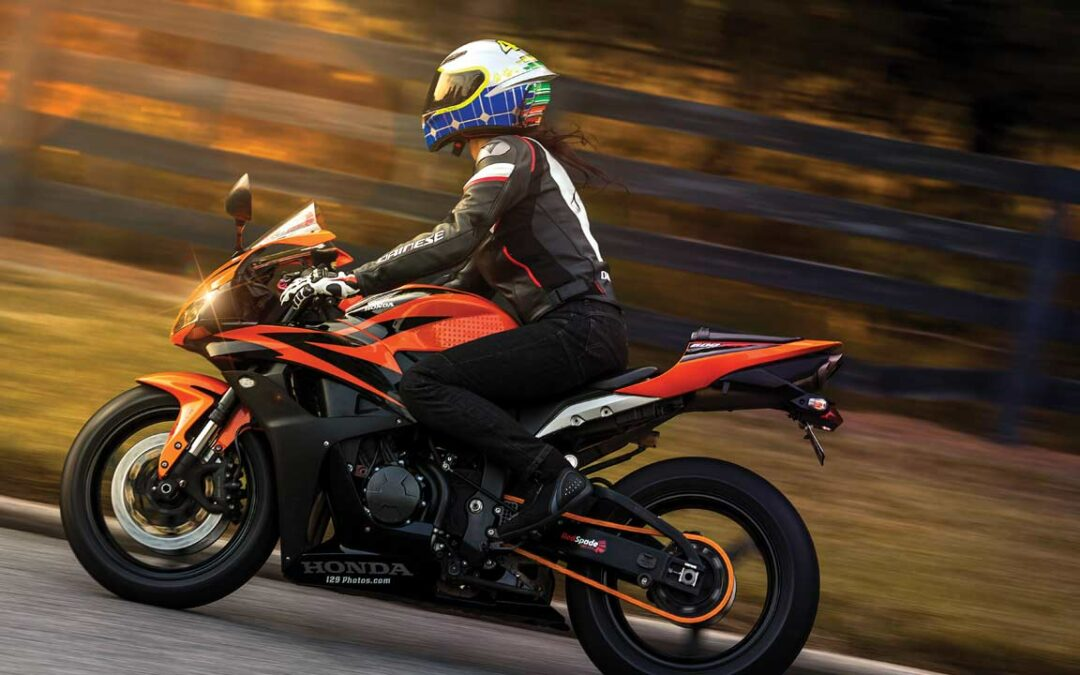 Girl on fire: Anna Rigby combines social media fame with a passion for sport bikes